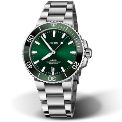 Oris豪利時Aquis時間之海300米潛水錶-39.5mm/綠