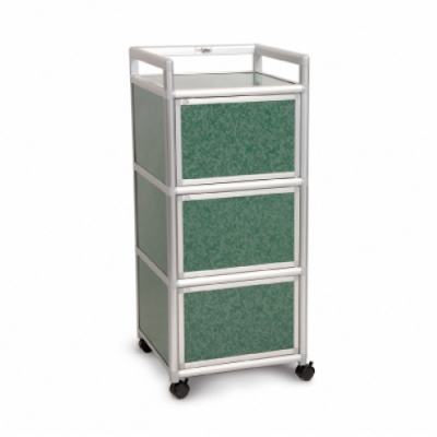 Cabini小飛象-花崗綠1.5尺鋁合金三門收納櫃49.8x50.8x115.3cm