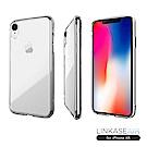 LINKASE AIR iPhone XR 大猩猩9H康寧玻璃防摔保護殼-全透明