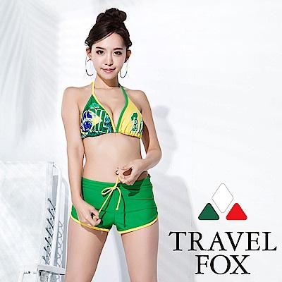 TRAVEL FOX 大女比基尼三件式泳衣