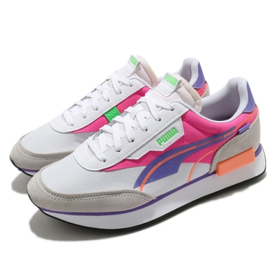 Puma 休閒鞋 Future Rider 運動 女鞋 基本款 舒適 簡約 球鞋 穿搭 白 粉 38105203