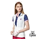 【Lynx Golf】女款彈性舒適涼爽透氣後背通風拉鍊口袋無袖背心-白色 product thumbnail 2