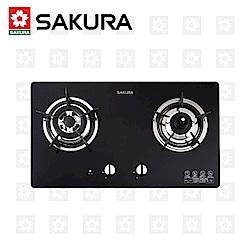 櫻花牌 SAKURA 二口防乾燒節能檯面爐 G-2820G 天然瓦斯 限北北基配送