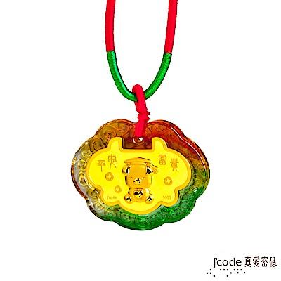 J code真愛密碼 博士小豬黃金彌月木盒-0.1錢