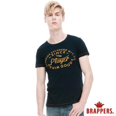 BRAPPERS 男款 美式風格圓領短袖上衣-丈青
