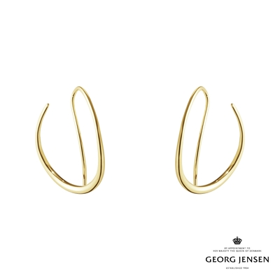 Georg Jensen 喬治傑生 OFFSPRING 18K金圈式耳環