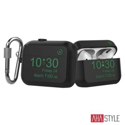 AHAStyle AirPods Pro 矽膠保護套 Apple Watch造型 經典設計 掛鉤款保護殼