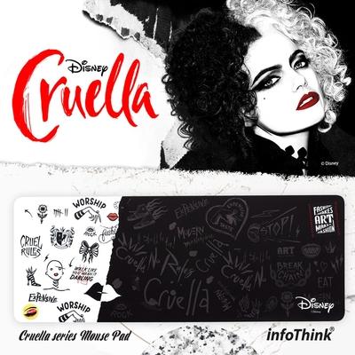 Infothink 迪士尼壞美力系列限量版滑鼠墊 - 庫伊拉Cruella