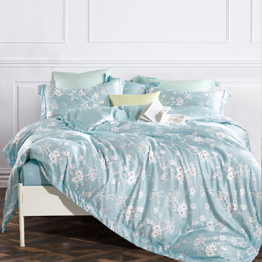 Saint Rose 靜蜜 雙人吸濕排汗天絲兩用被套床包四件組