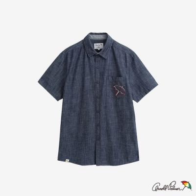 Arnold Palmer-男裝-經典水手布貼袋襯衫-深藍