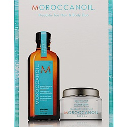 MOROCCANOIL 經典舒芙蕾禮盒(摩洛哥優油125ml+身體潤澤露45ml)