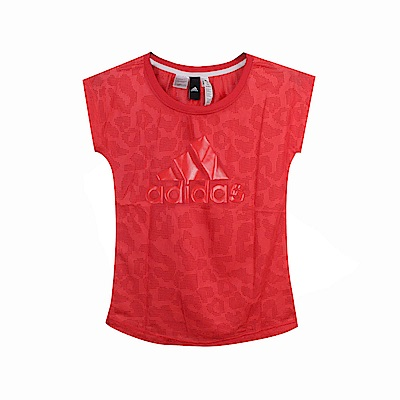 Adidas 女 SS T LEOPARD 圓領T(短)