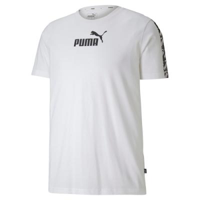 PUMA-男性基本系列Amplified短袖T恤-白色-亞規