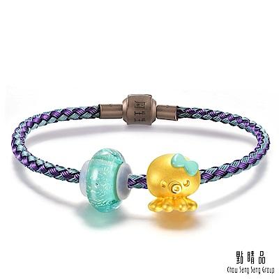 點睛品 Charme Murano Glass 八爪章魚 彩色琉璃黃金串珠手環