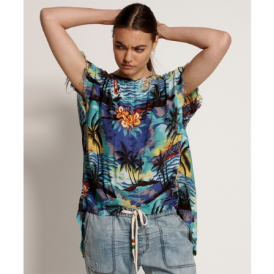 ONETEASPOON WW HAWAIIAN OPEN BACK TOP上衣-女(藍)