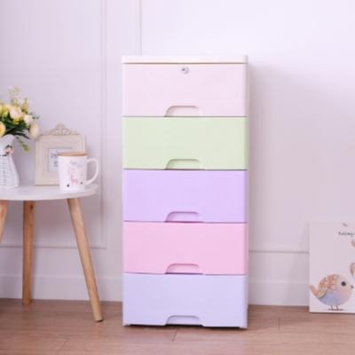 Amos-親密糖果色彩五層收納櫃