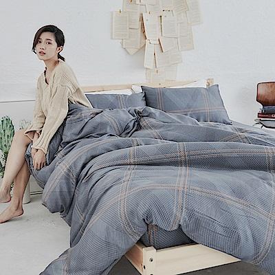 BUHO 100%TENCEL純天絲單人床包+雙人舖棉兩用被床包組(暗光幽語)