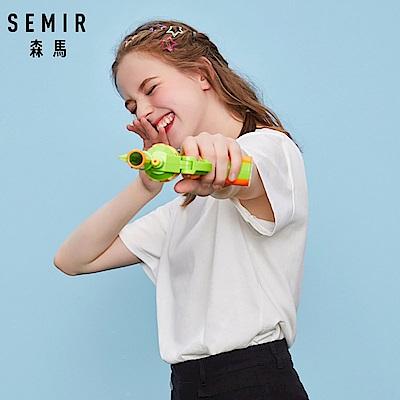 SEMIR森馬-史努比卡通人物刺繡短袖T恤-女(2色)