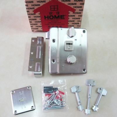 HOME 大安住 不鏽鋼鐵五段鎖 9512 白鐵 葉片式匣 連體式五段鎖 門鎖 硫化銅門