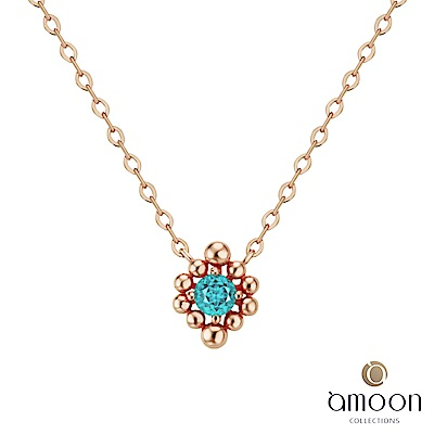 amoon 韓情脈脈系列 豐盛 14K金寶石項鍊