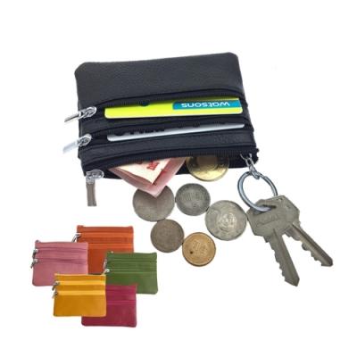 玩皮工坊-頭層牛皮多隔層便攜男女通用拉鍊皮夾零錢包卡片包LH397
