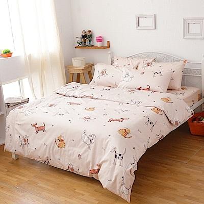 kokomos扣扣馬 鎮瀾宮大甲媽授權精梳棉205織紗新式兩用被單人床包被套組 寵物趣
