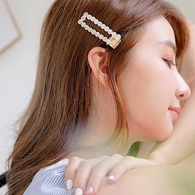 婚禮系列~兩件組質感優雅水晶髮夾-OB大尺碼