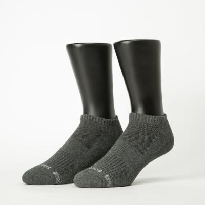 Footer除臭襪-單色運動逆氣流氣墊船短襪加大款-六雙入(白*2+深灰*2+藍*2)