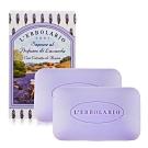 L'ERBOLARIO 蕾莉歐 薰衣草植物香氛皂100gX2-贈品牌試用包(隨機出貨)
