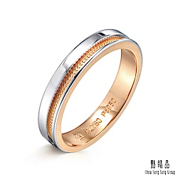 點睛品 Promessa 無盡的愛 鉑金情侶結婚戒指-女戒