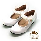 天使童鞋-舞會精靈公主高跟鞋(中-大童)J894-白