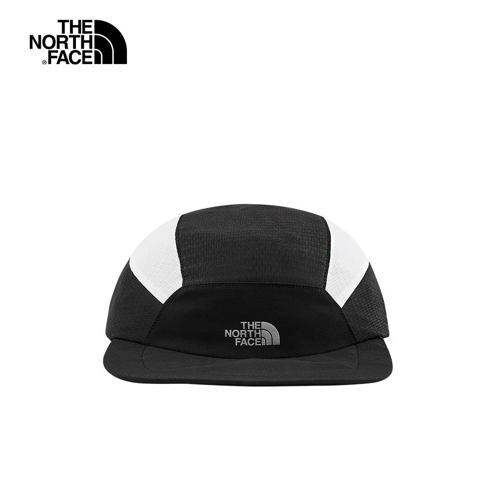 The North Face北面男女款黑色拼接運動帽|3FKIJK3