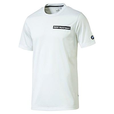 PUMA-男性BMW系列SP-Cat短袖T恤-白色-歐規