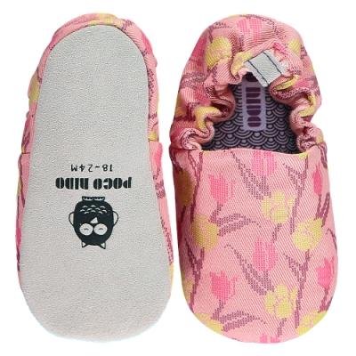 英國 POCONIDO 手工嬰兒鞋 (綻放鬱金香)