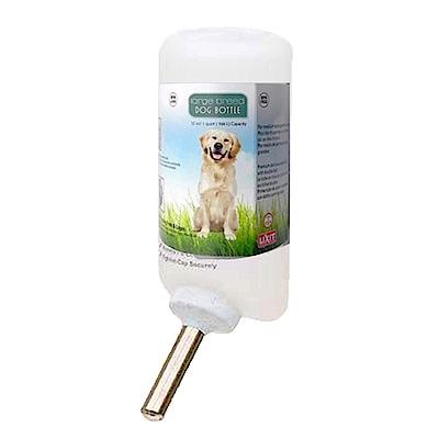 金德恩 美國製造 LIXIT 45度出水鋼管設計 大型犬寵物飲水瓶 960cc/附彈簧掛繩