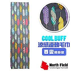 美國 North Field COOL BUFF 降溫速乾吸濕排汗涼感運動毛巾_七彩羽毛
