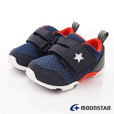 日本月星頂級童鞋  2E兒茶素抗菌款 EI885深藍(寶寶段)