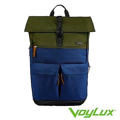 VoyLux伯勒仕-VENTURE系列雙口袋配色後背包藍色-3381519