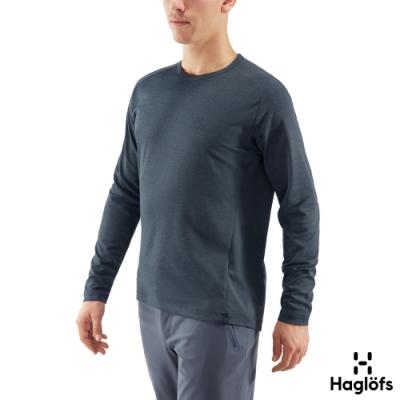 新品↘Haglofs 男 Curve 快乾 舒適 長袖圓領衫 濃厚藍
