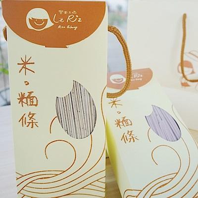 樂米工坊 米麵條(500g/包,原味*1+蕎麥*1,共兩包)