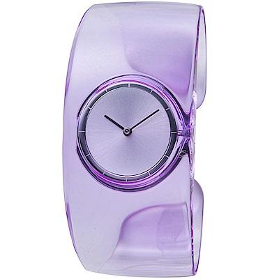 ISSEY MIYAKE三宅一生O系列透明手鐲腕錶-淺紫-VJ20-0100P