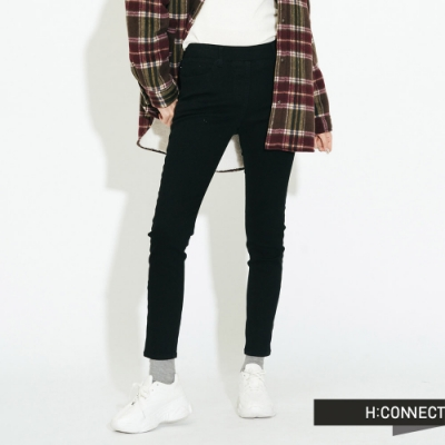 H:CONNECT 韓國品牌 女裝-合身微彈長褲-黑