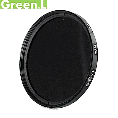 Green.L紅外線濾鏡49mm濾鏡720IR濾鏡多層膜IR72紅外鏡IR720波長波段720nm半紅外線攝影GIR7249