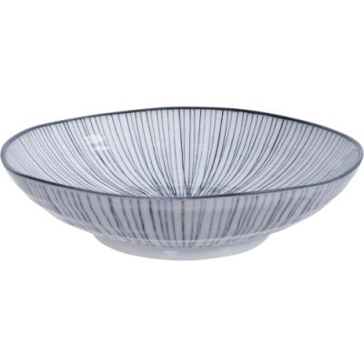 《Tokyo Design》瓷製深餐盤(線紋黑21cm)