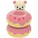 拉拉熊洋食漢堡店系列文具收納盒玩。懶妹甜甜圈。筆座San-X