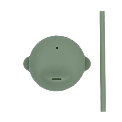 澳洲We Might Be Tiny 動物矽膠杯套吸管組-灰綠