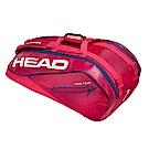 HEAD奧地利 Tour Team系列 9支裝球拍袋-莓紅 283119