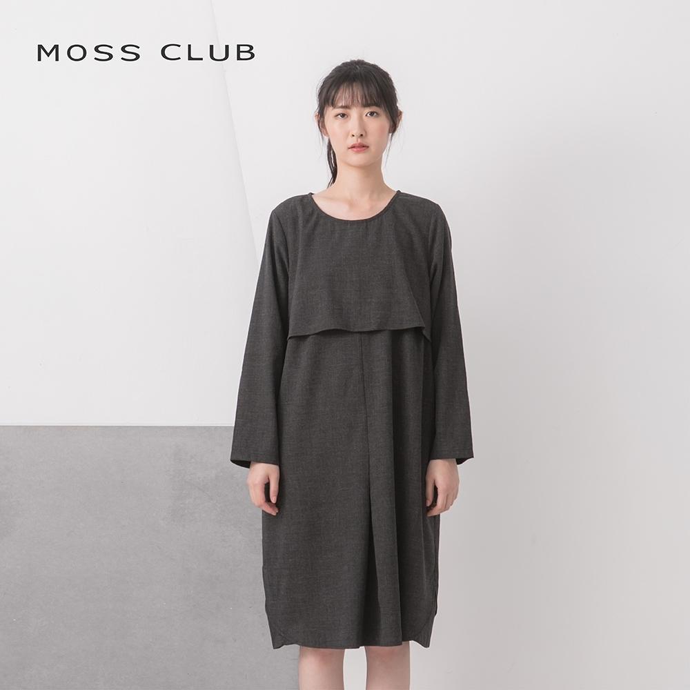 【MOSS CLUB】舒適連身造型-洋裝(黑色)