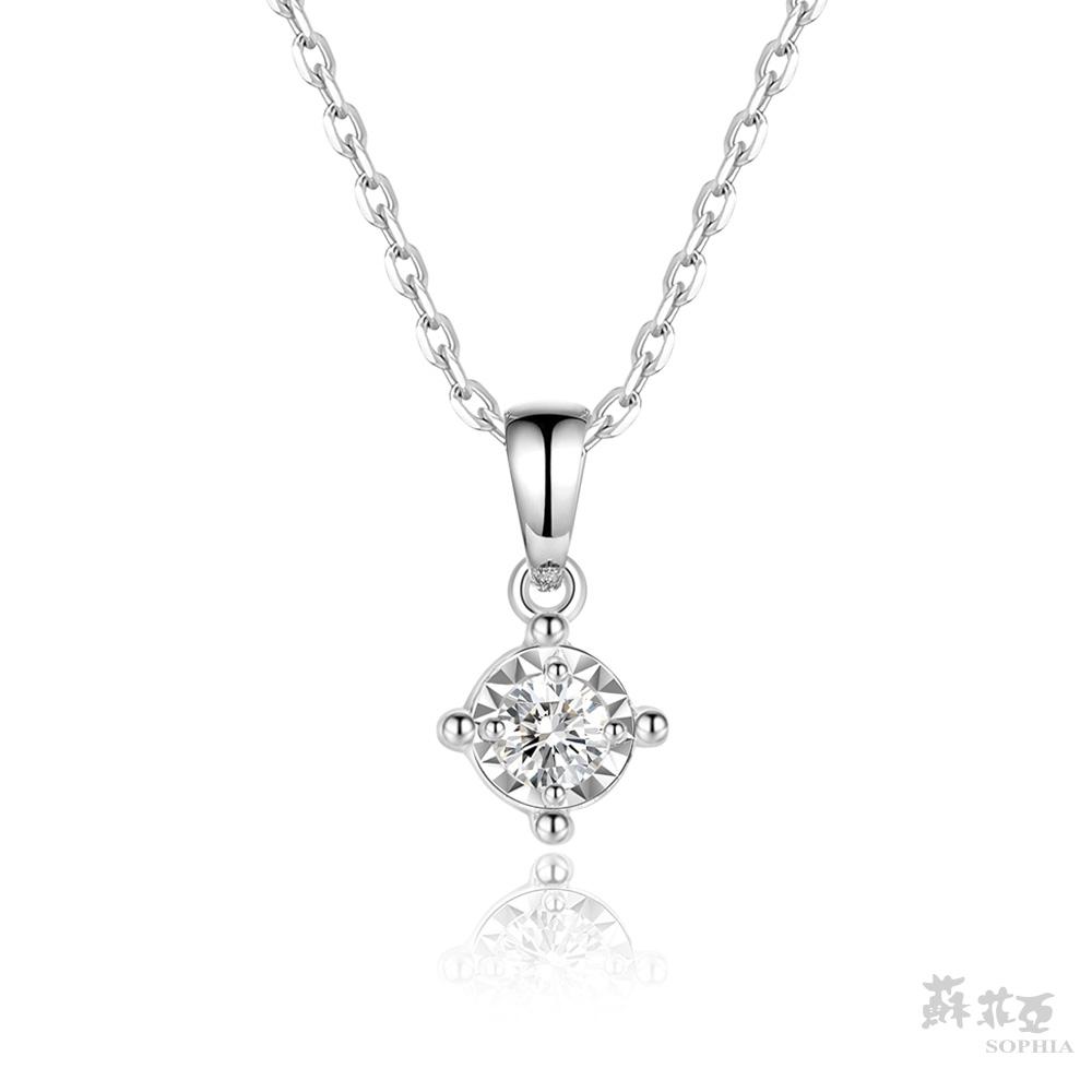 SOPHIA 蘇菲亞珠寶 - 純真 18K白金 鑽石項鍊