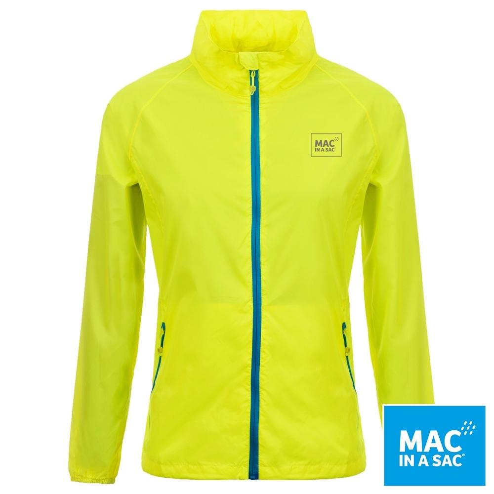【MAC IN A SAC】男女款輕巧袋著走防水抗風透氣輕量外套MNS089螢光黃